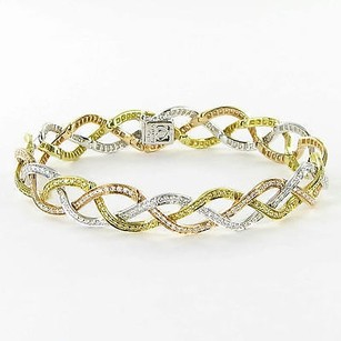 Simon G. Simon G Bracelet Tri-color 18k Gold 2.57cts White Yellow Diamonds