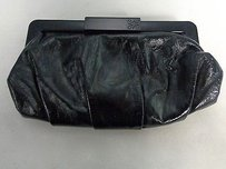 Simply Vera Vera Wang Synthetic Pleated Evening B2883 Black Clutch