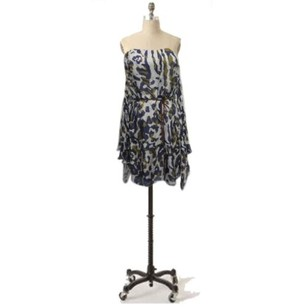 Single Wild Print Strapless Dress