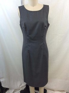 Sisley short dress Gray Charcoal Wool on Tradesy