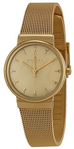 Skagen Denmark SKW2196 Ancher Champagne Dial Gold Plated Stainless Women's Watch