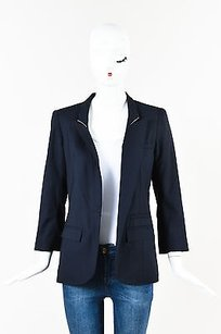 Smythe Navy Wool Anchor Blue Jacket