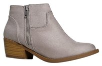 Soda Blu Closed-toe Low Gray Boots