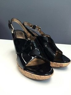 Sfft Sofft Patent Leather Black Sandals