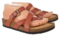 Söfft Sofft Womens Thong Leather Casual Slip On Brick Red Sandals
