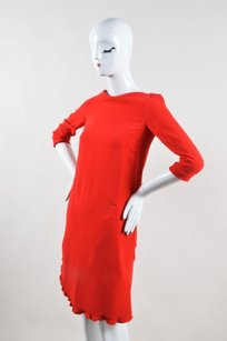 Sonia Rykiel short dress Red Crepe Ruffle on Tradesy