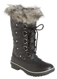 Sorel Faux-fur Collar Black canvas Boots