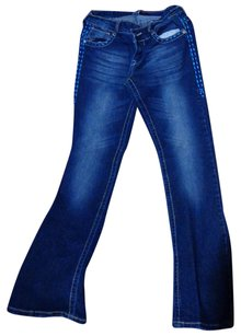 South Pole Collection Boot Cut Jeans-Distressed