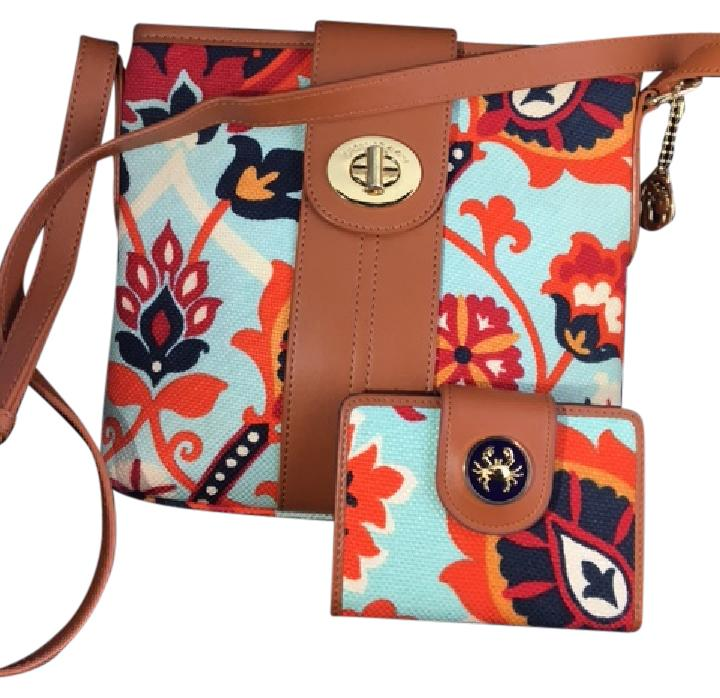 Spartina 449 Journey Hipster Blue Floral Cross Body Bag - Tradesy