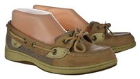 Sperry Top Sider Womens Boat Lace Up Beige Flats