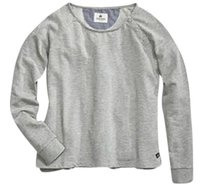 Sperry Boyfriend Cropped Boatneck Buttons Cozy Sweater