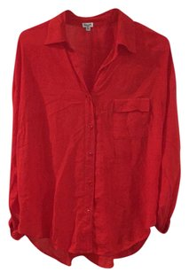 Splendid Button Down Shirt Red