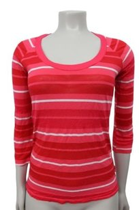 Splendid Red Pink White Top Multi-Color