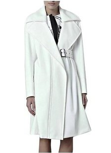 Sportmax Paio Ivory Notch Collar Belted Dress Coat 120504mm Whites Jacket