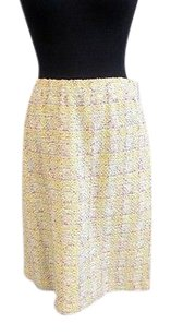 St. John Couture Lime Yellow Skirt Multi-Color