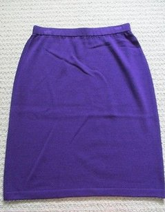 St. John Evening Santana Skirt Purple