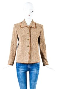 St. John Couture Brown Cream Gold Brown,Cream,Gold,Gray Jacket