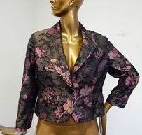 St. John St Black Pink Floral Multi-Color Jacket