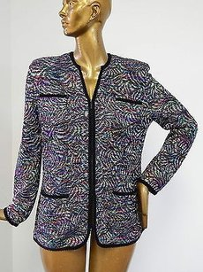 St. John St Collection Multi Knit Multi-Color Jacket