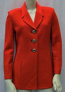 St. John St Collection Red Knit Reds Jacket