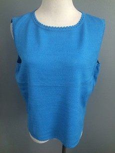 St. John St Sleeveless Shell Top Blue