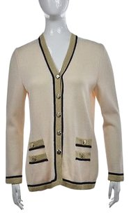 St. John St Womens Beige Cardigan Sweater