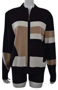 St. John St Womens Black Full Zip Sweater