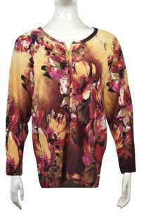 St. John Womens Floral Sweater