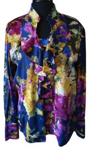 St. John Jewel Tones Stretch Top multi