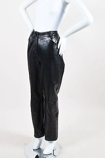 St. John Collection Leather Zip Pants