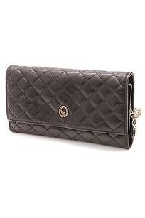 St. John Quilted Leather Satchel in Black