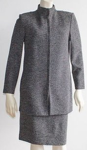 St. John St. John Other White House Black Market White Santana Knit 2pc Zip Long Coat Skirt