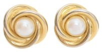 St. John St John Pearl and Gold Tone