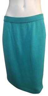 St. John Collection Santana Knit Size 10 Skirt Sea Green