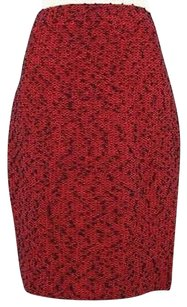 St. John Collection Womens Skirt Red