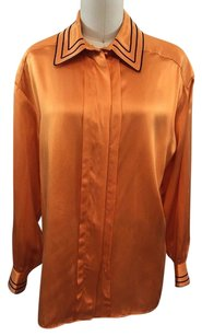 St. John St Vintage Silk Top Orange