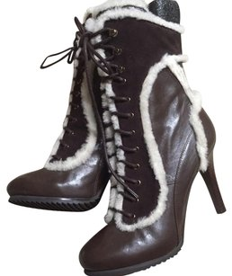 Stella Luna Leather Brandnew Trim brown Boots