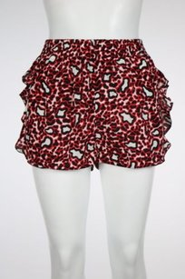 Stella McCartney Womenes Red Shorts Back, Red, White