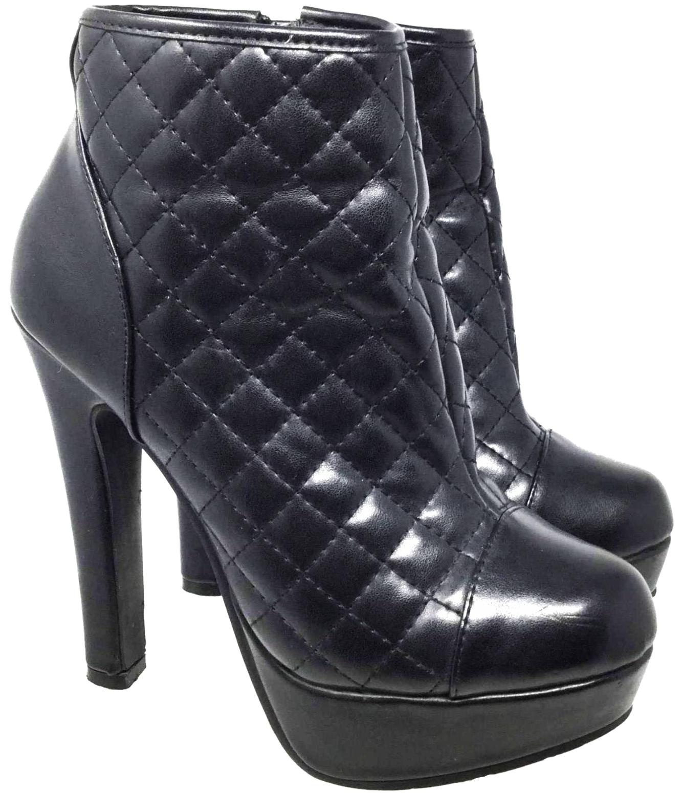 Steve Madden Black Women's Ankle 6.5/Eu37 Synthetic Boots/Booties Size US 6.5 Regular (M, B)