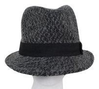 Steve Madden Steve Madden Womens Gray Black Tweed Fedora Hat One Wool