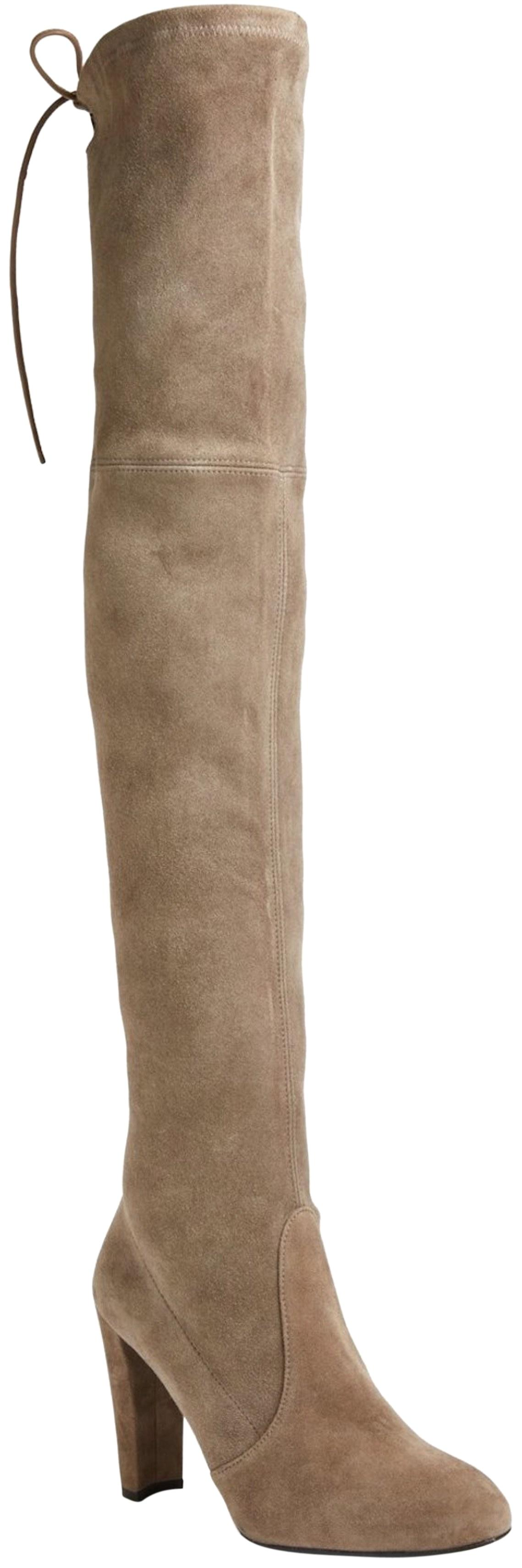 Stuart Weitzman Beige Highland Over The Knee In Shade: Praline Suede New In Box Boots/Booties Size US 9.5 Regular (M, B)