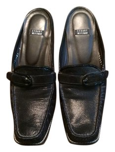 Stuart Weitzman Black leather Mules