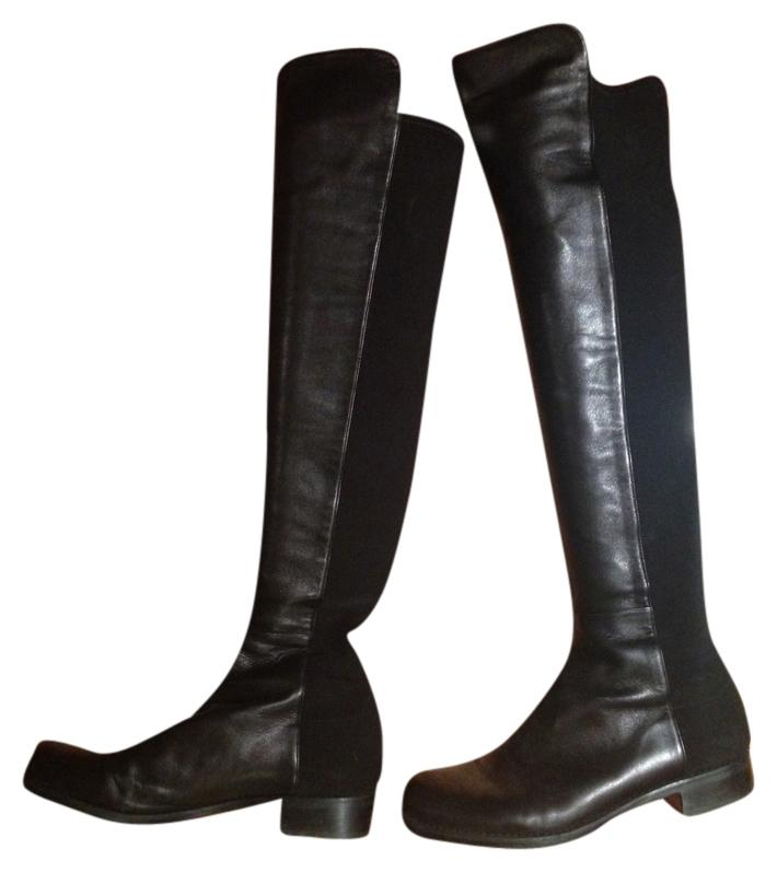 Stuart Weitzman Black/Black 5050 Boots/Booties Size US 8.5 Regular (M, B)