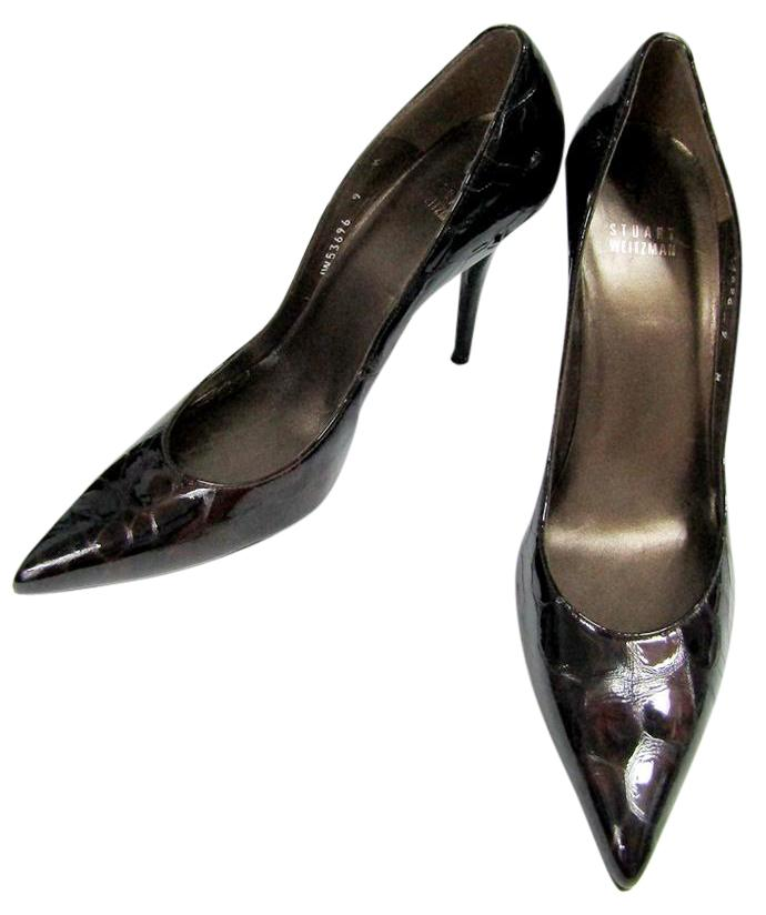 Stuart Weitzman Patent Leather Embossed Pumps for cheap sale shop for pick a best sale online Cheapest sale online w5OwIIwQF