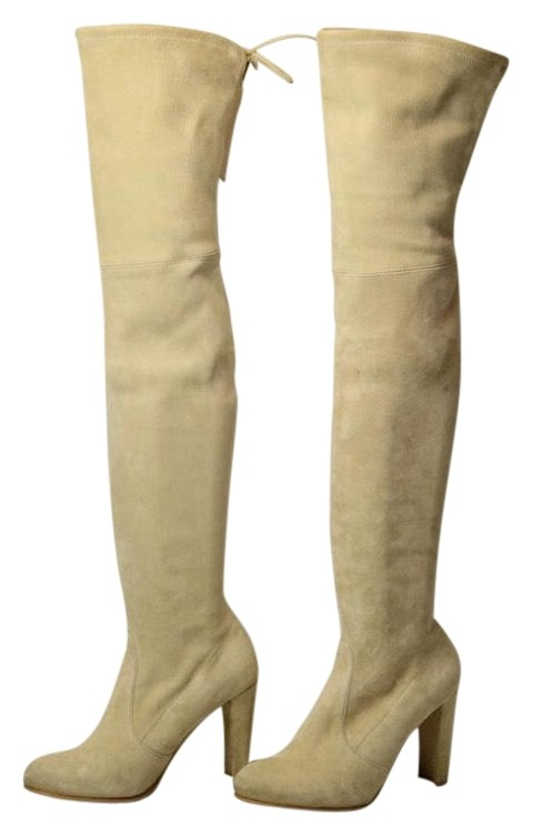 Stuart Weitzman Buff Highland Over The Knee Suede Boots/Booties Size B) US 7.5 Regular (M, B) Size 54b047