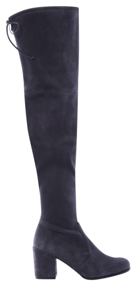 Stuart Weitzman Grey Tieland Suede Over The Knee Boots/Booties Size EU 36.5 (Approx. US 6.5) Regular (M, B)