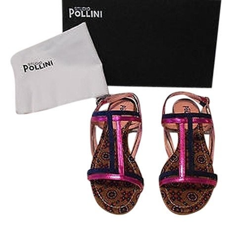 outlet excellent footlocker pictures sale online Studio Pollini Two-Tone Leather Sandals OdPQPP