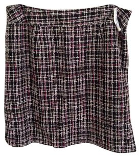 Style & Co Skirt Black background with stripes
