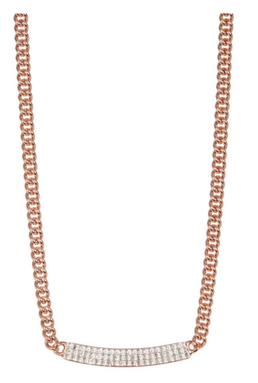 Swarovski Rose Gold Vio Crystal 5192265 Chain Link Gift Necklace