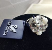 Swarovski Swarovski Crystal Silver Tone Ring With Tags 12